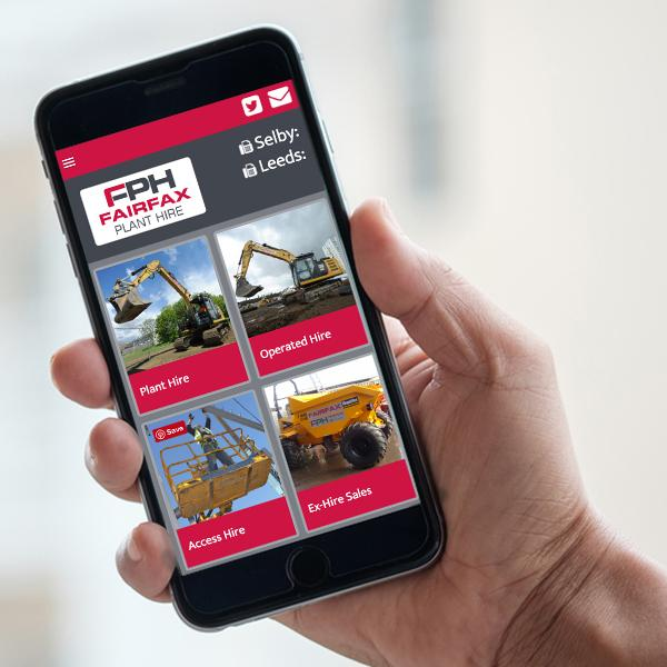 Fairfax plant hire website design on iphone