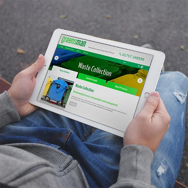website design for waste collection business yorkshire