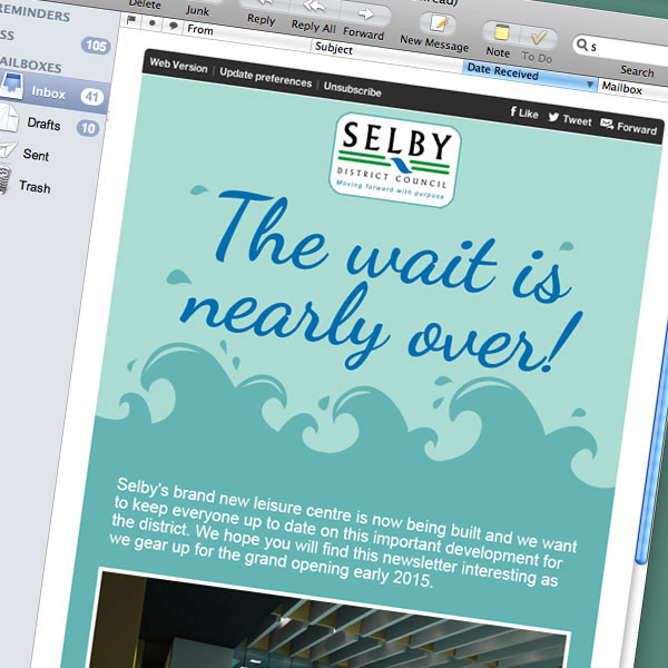 email campaign design and management for selby district council