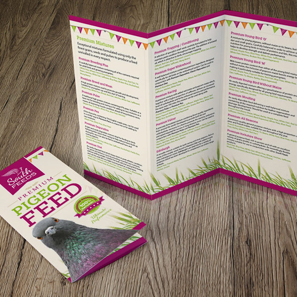 leaflet graphic design and artwork for south feeds selby