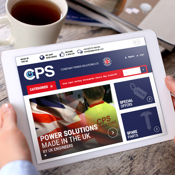 responsive website design for generators company in selby