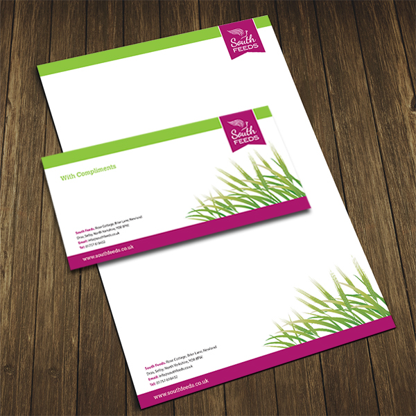 letterhead and compliment slip printing for south feeds selby