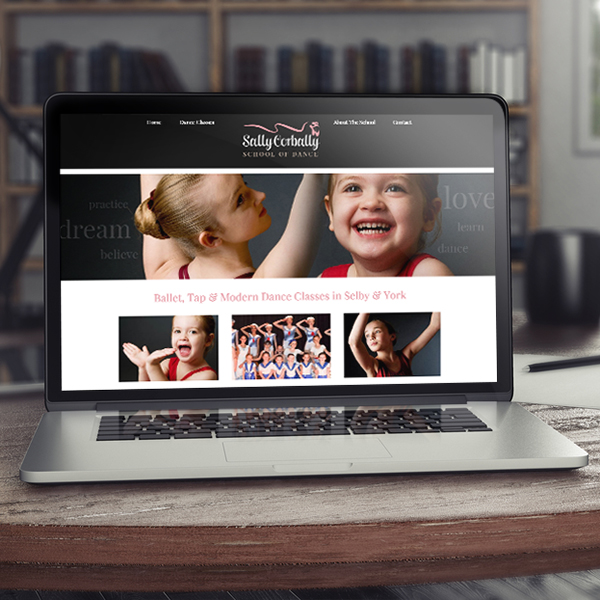 website design for ballet school in selby