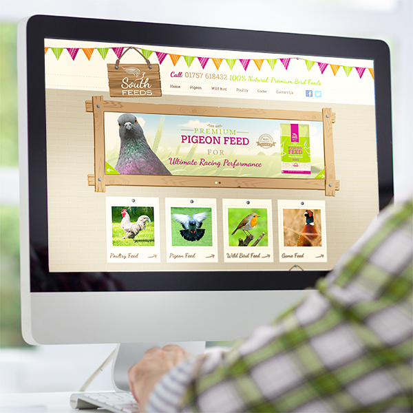 website design selby for pigeon feeds